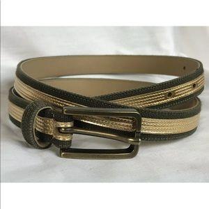3/$30 Linea Pelle Leather Canvas Belt